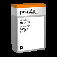 Prindo Tintenpatrone Schwarz PRICBX20 BX-20 44ml kompatibel mit Canon BX-20 (0896A002)