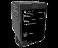 Lexmark Toner Schwarz 74C2HK0 ~20000 Seiten Rückgabe-Druckkassette, hohe Kapazität
