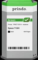 Prindo Tintenpatrone Schwarz PRIET1301G Green ~945 Seiten Prindo GREEN: Recycelt & aufwendig aufbere