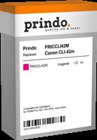 Prindo Tintenpatrone Magenta PRICCLI42M CLI-42 12ml kompatibel mit Canon CLI-42m (6386B001)