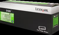 Lexmark Toner schwarz 51F2H00 512H ~5000 Seiten Rückgabe-Druckkassette