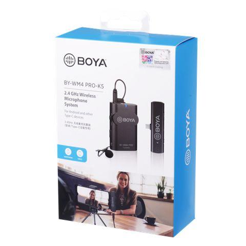 Boya 2.4 Ghz Lavalier-Mikrofon Drahtlos BY-WM4 Pro-K5 für Android
