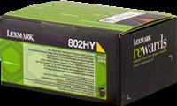 Lexmark Toner gelb 80C2HY0 802HY ~3000 Seiten Rückgabe-Druckkassette