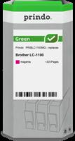 Prindo Tintenpatrone Magenta PRIBLC1100MG Green ~325 Seiten Prindo GREEN: Recycelt & aufwendig aufbe