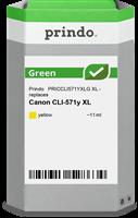 Prindo Tintenpatrone Gelb PRICCLI571YXLG Green 11ml Prindo GREEN: Recycelt & aufwendig aufbereitet,
