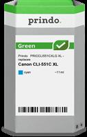 Prindo Tintenpatrone Cyan PRICCLI551CXLG Green 11ml Prindo GREEN: Recycelt & aufwendig aufbereitet,