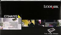 Lexmark Toner gelb C734A1YG ~6000 Seiten Rückgabe-Druckkassette
