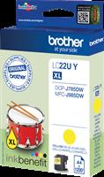 Brother Tintenpatrone Gelb LC22UY LC-22U ~1200 Seiten