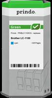 Prindo Tintenpatrone Cyan PRIBLC1100CG Green ~325 Seiten Prindo GREEN: Recycelt & aufwendig aufberei