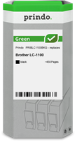 Prindo Tintenpatrone Schwarz PRIBLC1100BKG Green ~450 Seiten Prindo GREEN: Recycelt & aufwendig aufb