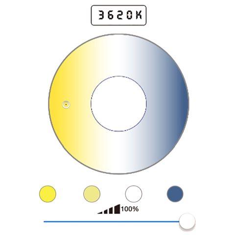 Falcon Eyes Bi-Color LED Spot Lampe Dimmbar DLL-3000TW auf 230V