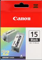 Canon Tintenpatrone schwarz BCI-15bk 8190A002 2er Pack