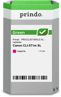 Prindo Tintenpatrone Magenta PRICCLI571MXLG Green 11ml Prindo GREEN: Recycelt & aufwendig aufbereite