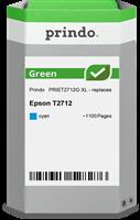 Prindo Tintenpatrone Cyan PRIET2712G Green ~1100 Seiten Prindo GREEN: Recycelt & aufwendig aufbereit