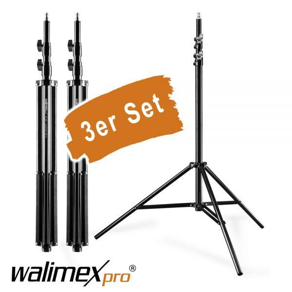 Walimex pro WT-806 Lampenstativ 256cm 3er Set