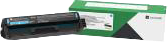 Lexmark Toner Cyan C332HC0 ~2500 Seiten Rückgabe-Druckkassette, hohe Kapazität
