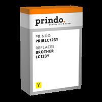 Prindo Tintenpatrone Gelb PRIBLC123Y LC-123 ~600 Seiten Prindo CLASSIC: DIE Alternative, Top Qualitä