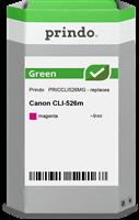 Prindo Tintenpatrone Magenta PRICCLI526MG Green 9ml Prindo GREEN: Recycelt & aufwendig aufbereitet,