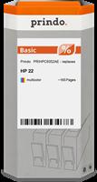 Prindo Tintenpatrone color PRIHPC9352AE 22 ~165 Seiten Prindo BASIC: DIE preiswerte Alternative, Top