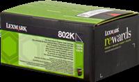 Lexmark Toner schwarz 80C20K0 802K ~1000 Seiten Rückgabe-Druckkassette