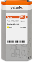 Prindo Tintenpatrone Gelb PRIBLC1000Y LC-1000 ~400 Seiten Prindo BASIC: DIE preiswerte Alternative,