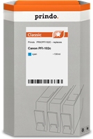 Prindo Tintenpatrone Cyan PRICPFI102C PFI-102 130ml Prindo CLASSIC: DIE Alternative, Top Qualität, v