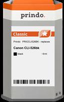 Prindo Tintenpatrone schwarz PRICCLI526BK CLI-526 9ml Prindo CLASSIC: DIE Alternative, Top Qualität,