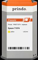 Prindo Tintenpatrone Gelb PRIET1574 T1574 25.9ml Prindo CLASSIC: DIE Alternative, Top Qualität, voll