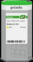 Prindo Tintenpatrone Gelb PRIBLC123YG Green ~600 Seiten Prindo GREEN: Recycelt & aufwendig aufbereit
