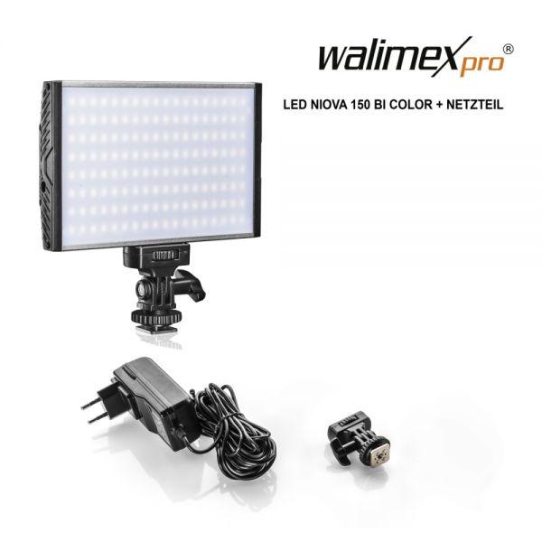Walimex pro LED Niova 150 Bi Color 15W LED Leuchte plus Netzteil