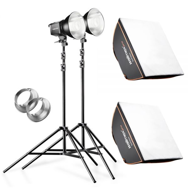 Walimex pro Daylight 250S 2er Set Softbox+ Stativ
