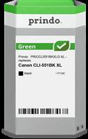 Prindo Tintenpatrone Schwarz PRICCLI551BKXLG Green 11ml Prindo GREEN: Recycelt & aufwendig aufbereit