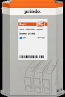 Prindo Tintenpatrone Cyan PRIBLC985C LC-985 ~260 Seiten Prindo BASIC: DIE preiswerte Alternative, To