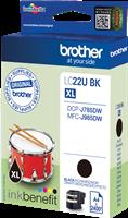Brother Tintenpatrone Schwarz LC22UBK LC-22U ~2400 Seiten