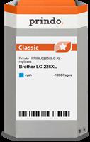Prindo Tintenpatrone cyan PRIBLC225XLC LC-225XL ~1200 Seiten Prindo CLASSIC: DIE Alternative, Top Qu