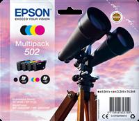 Epson Multipack Schwarz / Cyan / Magenta / Gelb C13T02V64010 502 4 Tintenpatronen: 502 BK/C/M/Y