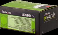 Lexmark Toner schwarz 80C2HK0 802HK ~4000 Seiten Rückgabe-Druckkassette