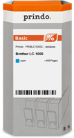 Prindo Tintenpatrone Cyan PRIBLC1000C LC-1000 ~400 Seiten Prindo BASIC: DIE preiswerte Alternative,