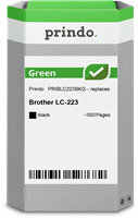 Prindo Tintenpatrone Schwarz PRIBLC223BKG Green ~550 Seiten Prindo GREEN: Recycelt & aufwendig aufbe