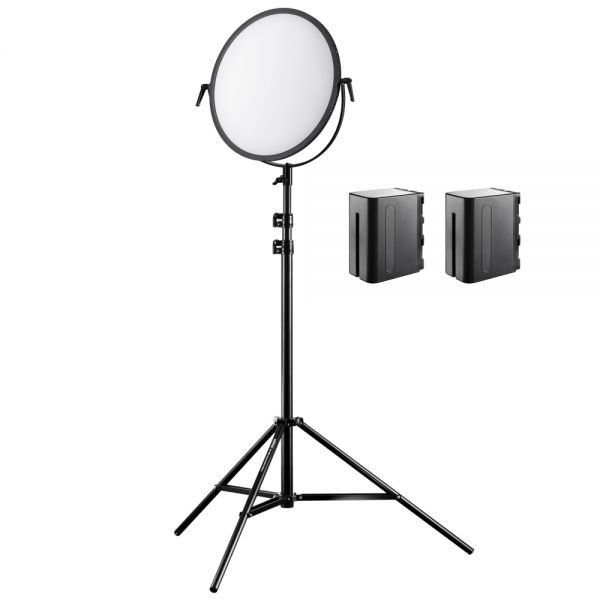 Walimex pro Soft LED 700 Round Bi Color Set 1x LED 1x Stativ 2x Akku NP-F 960