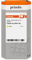 Prindo Tintenpatrone gelb PRICCLI551YXL CLI-551 11ml Prindo CLASSIC: DIE Alternative, Top Qualität,
