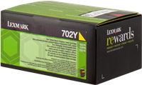 Lexmark Toner gelb 70C20Y0 702Y ~1000 Seiten Rückgabe-Druckkassette