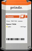 Prindo Tintenpatrone gelb PRIET1634 T1634 ~450 Seiten Prindo CLASSIC: DIE Alternative, Top Qualität,