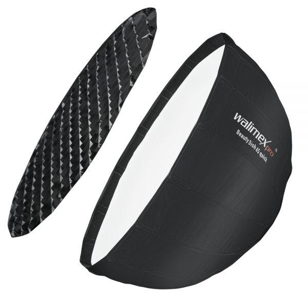 Walimex pro Studio Line Beauty Dish Softbox QA65 mit Softboxadapter Broncolor