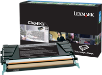 Lexmark Toner schwarz C746H1KG C746 ~12000 Seiten Rückgabe-Druckkassette