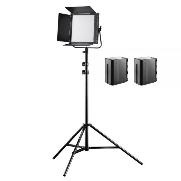 Walimex pro Soft LED Brightlight 520 Bi Color 40W Set inkl. Stativ + 2x NP-F Akku