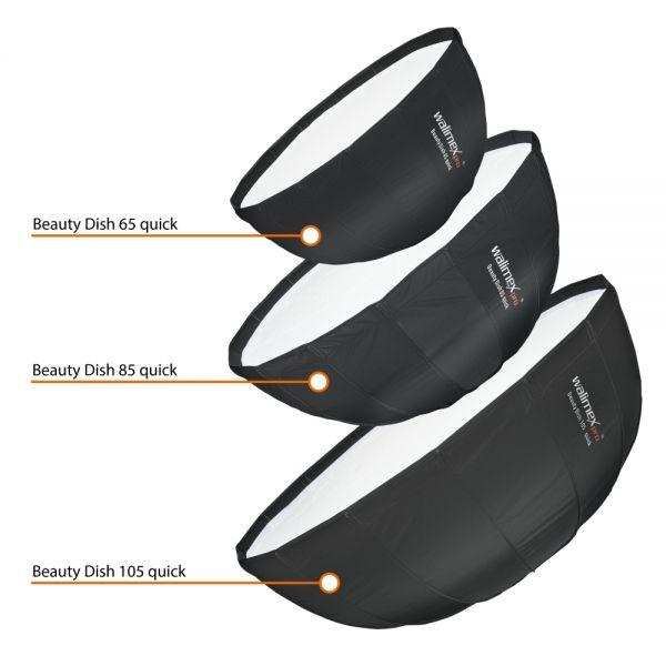 Walimex pro Studio Line Beauty Dish Softbox QA105 mit Softboxadapter Multiblitz V