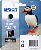 Epson Tintenpatrone Schwarz (matt) C13T32484010 T3248 ~650 Seiten 14ml
