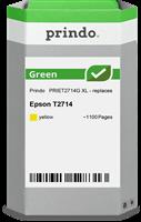 Prindo Tintenpatrone Gelb PRIET2714G Green ~1100 Seiten Prindo GREEN: Recycelt & aufwendig aufbereit