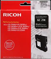 Ricoh Gel Patrone schwarz 405532 GC-21K ~1500 Seiten normale Reichweite